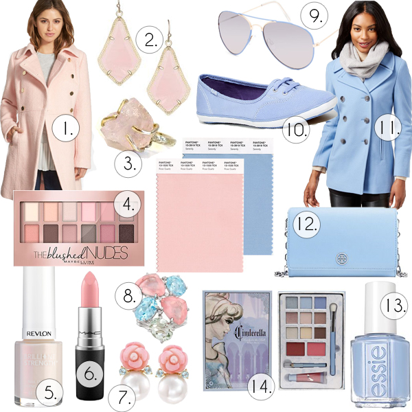 Pantone 2016 Colors of the Year Rose Quartz and Serenity Top Picks