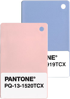 Pantone Chips Rose Quartz and Serenity