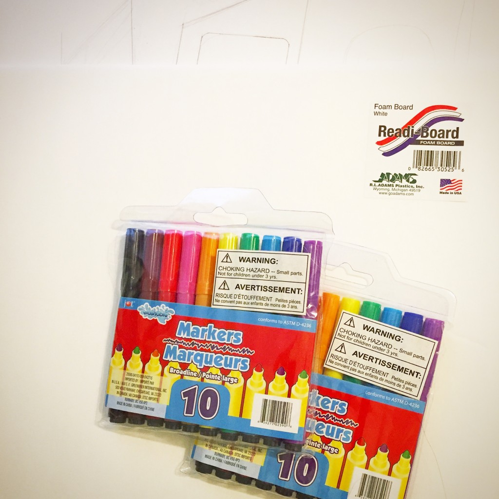 Foam Board and Markers