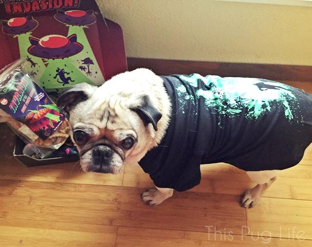 Loot Pets January Pug X-Files Tshirt