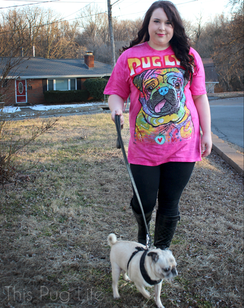 The Mountain Pug Luv Tee Shirt