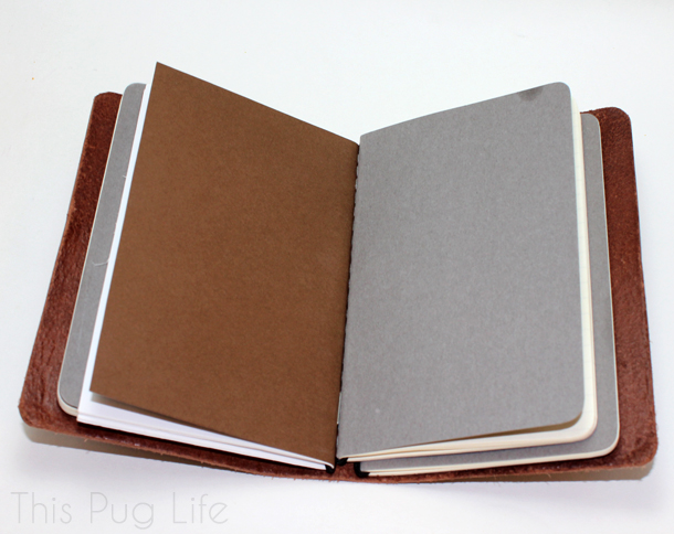 Buteo Bunker Leather Journal Cover Faux Midori Traveler's Notebook