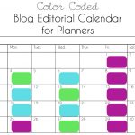 Printable Blog Editorial Calendar for Planners