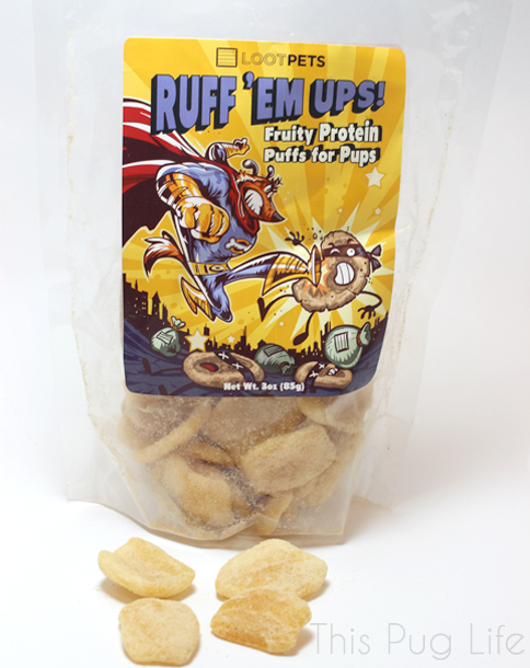Loot Pets March 2016 Ruff Em Ups Fruity Protein Puffs for Pups
