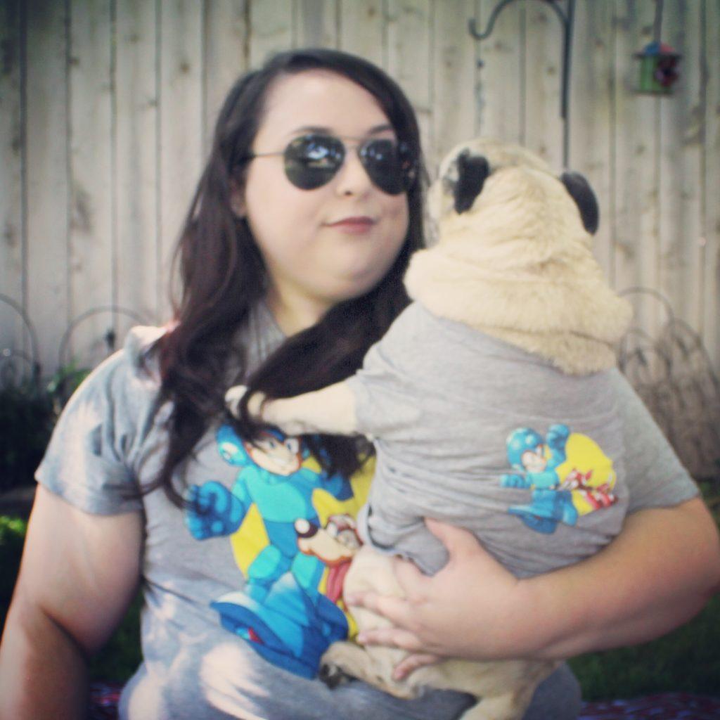 Loot Pets Megaman Matching Pug Shirts