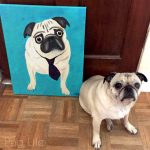 A Pug Painting Comes to Life