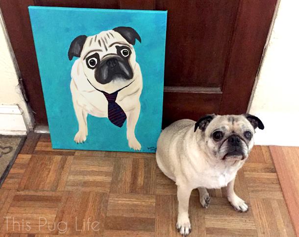 Pug and Pug Painting