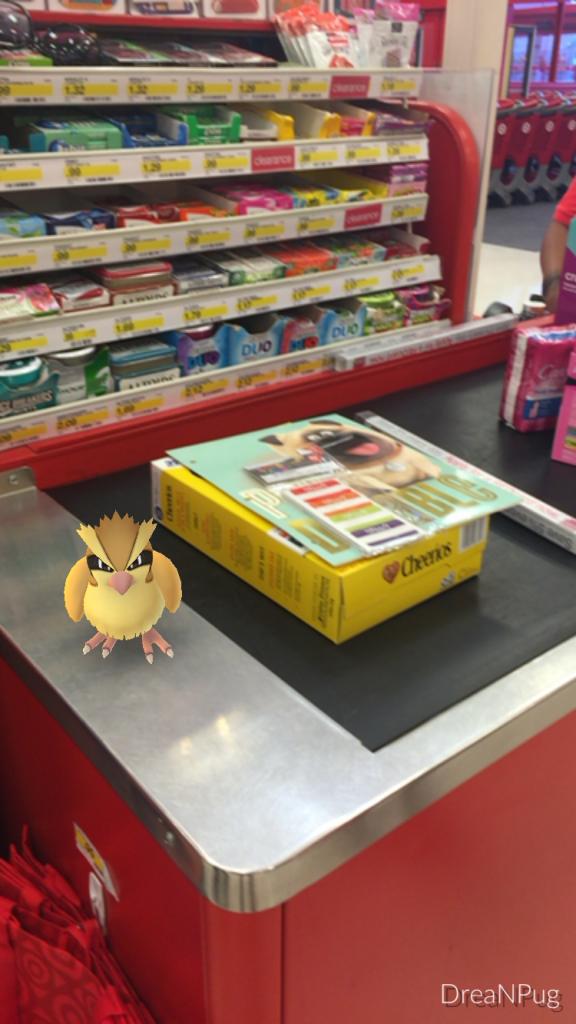 Pokemon Go at Target Pidgey