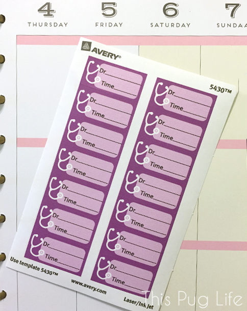 Avery Label Planner Stickers