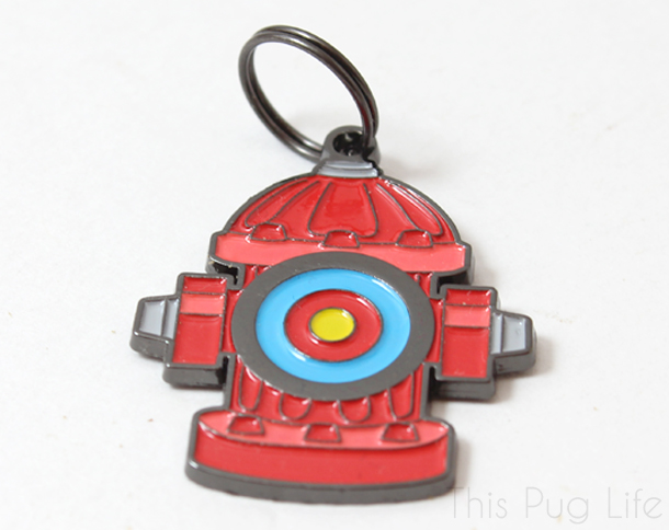 Loot Pets June 2016 Dogtopia Fire Hydrant Dog Tag