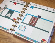 Library Book Planner Sticket Set free printable