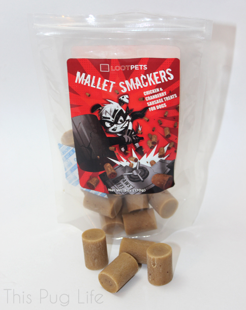 Loot Pets August 2016 Mallet Smackrs dog treats