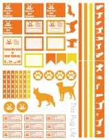 Strut Your Mutt Planner Stickers – Free Printable