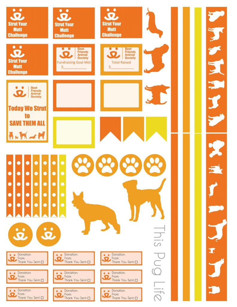 Strut Your Mutt Planner Stickers – Free Printable – This ...