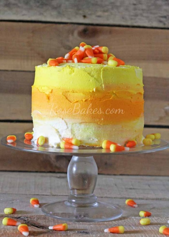 Ombre Candy Corn Cake