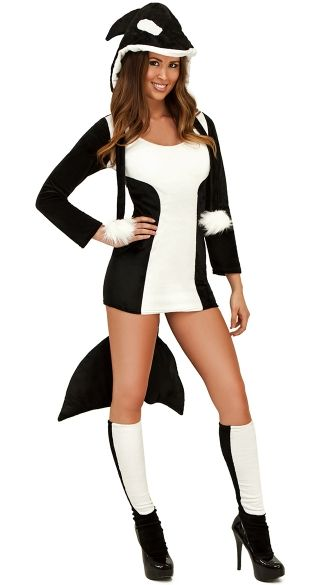Sexy Orca Killer Whale Halloween Costume