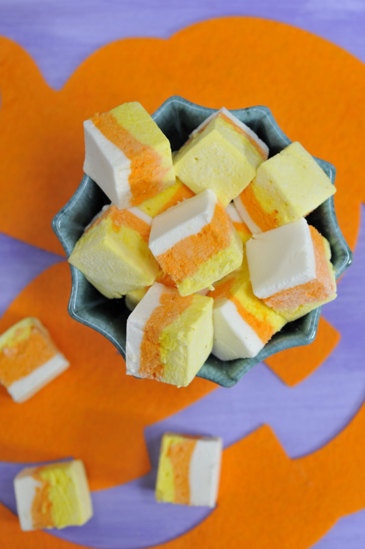 Homemade Candy Corn Marshmallows