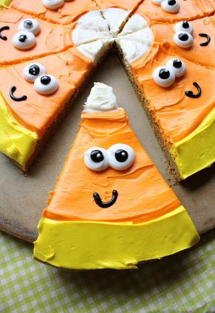 Candy Corn Pizza Cookie