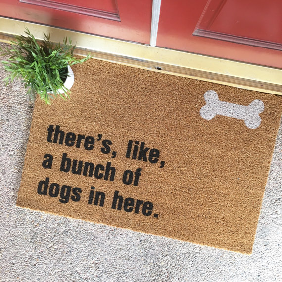 Bunch of Dogs Welcome Mat