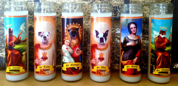Custom Pet Saint Prayer Candle