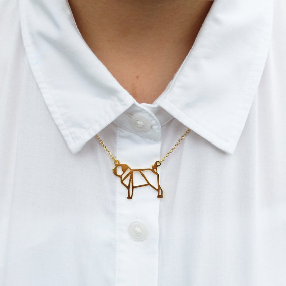 Origami Dog Necklace