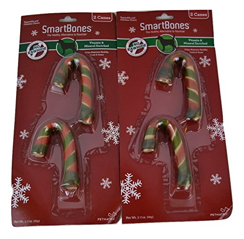SmartBones Rawhide Free Candy Canes