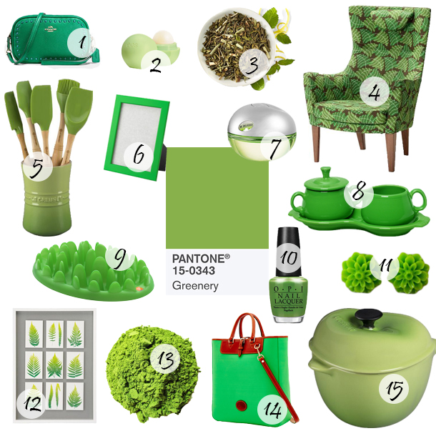 Pantone Greenery Color of the Year 2017 Picks