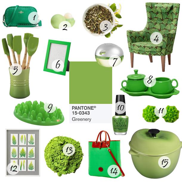 Pantone Greenery Color of the Year 2017 Picks