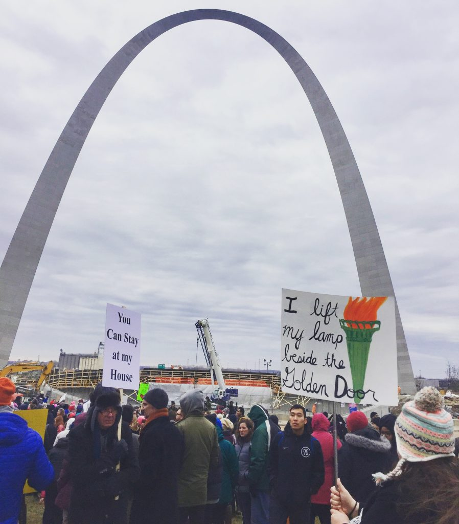 Muslim Refugee Immigrant March to the Arch St. Louis