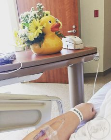 Hospital Room Rubber Ducky flower vase