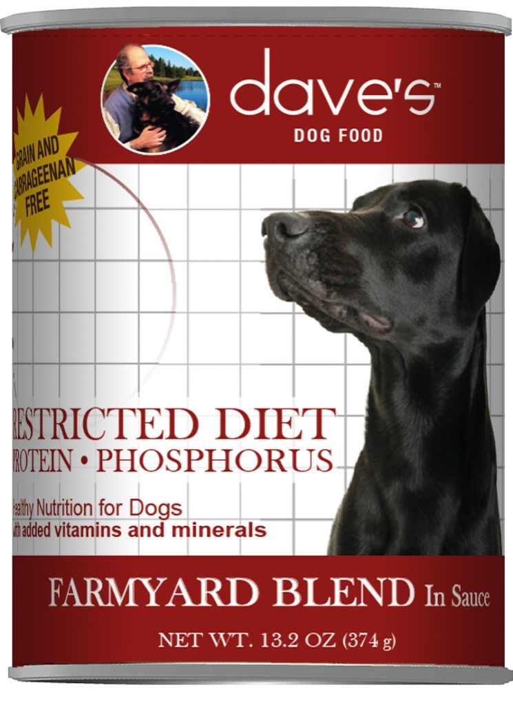Dave's Restricted Protein Phosphorous kidney dog food
