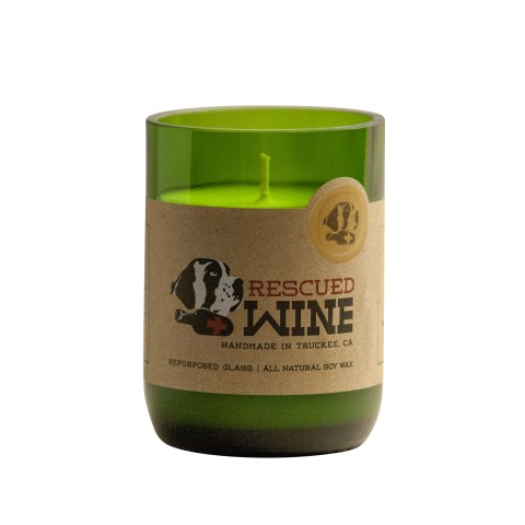 Rescued Wine Upcycled wine bottle soy candles