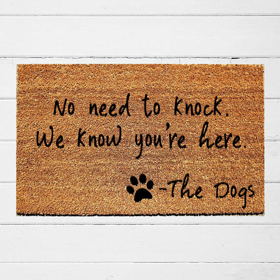 No need to knock, we know you're here welcome mat