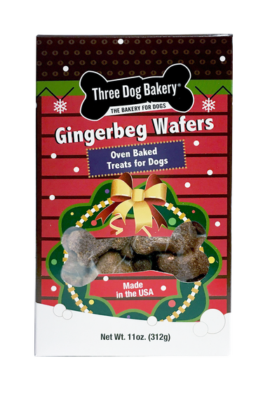 Gingerbread cookie dog treats