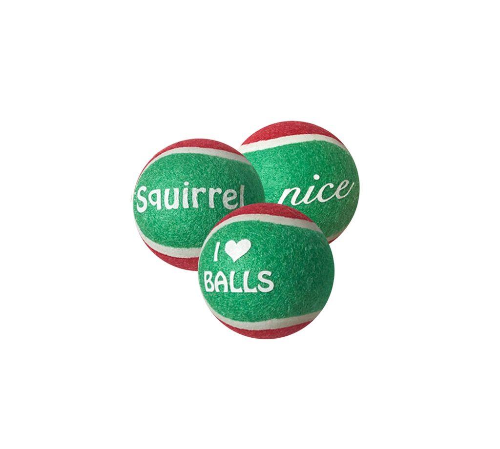 Outward Hound Holiday tennis balls