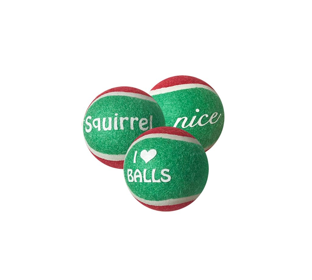 Outward Hound Holiday tennis balls